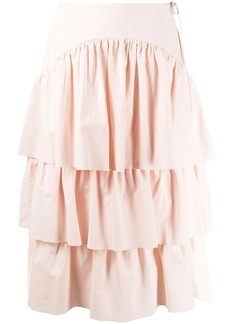See by Chloé tiered ruffle midi skirt