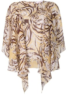 See by Chloé tiger print flouncy blouse