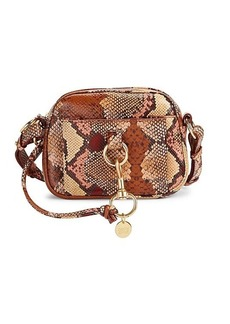 See by Chloé Tony Snake-Print Leather Camera Bag