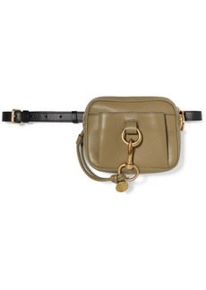 See by Chloé Tony Two-tone Textured-leather Belt Bag