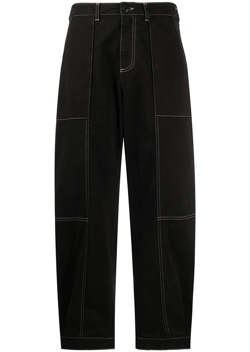 See by Chloé topstitching straight-leg jeans