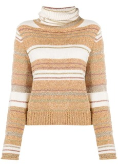 See by Chloé turtle neck striped knit jumper