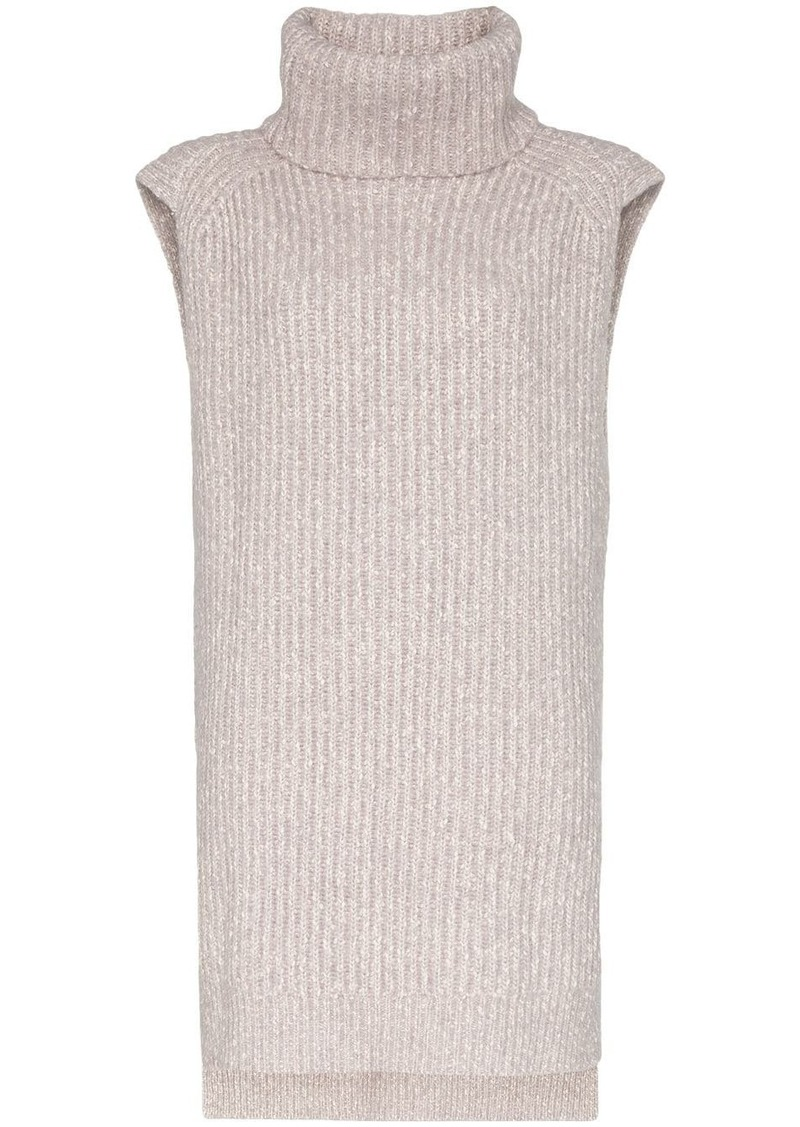 See by Chloé turtleneck sleeveless knit jumper