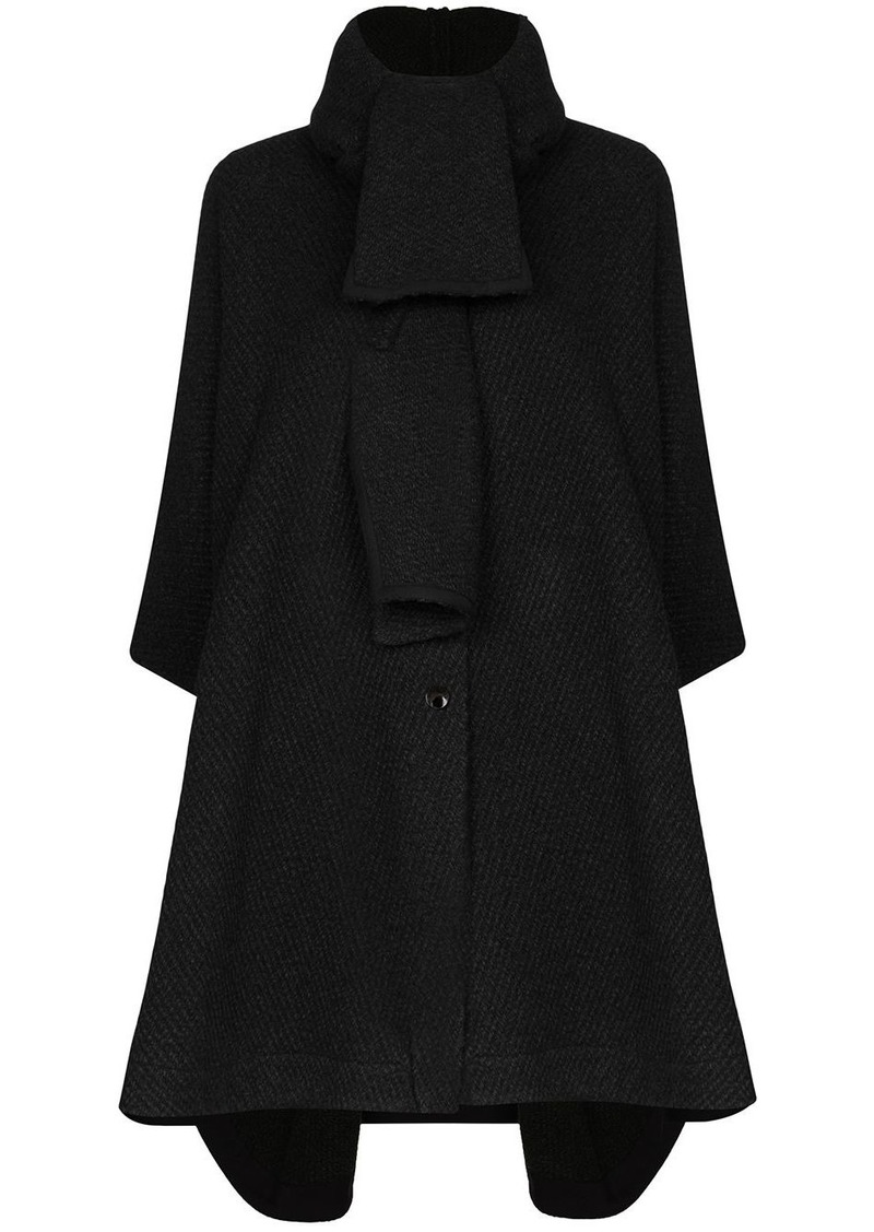 See by Chloé tweed cape coat