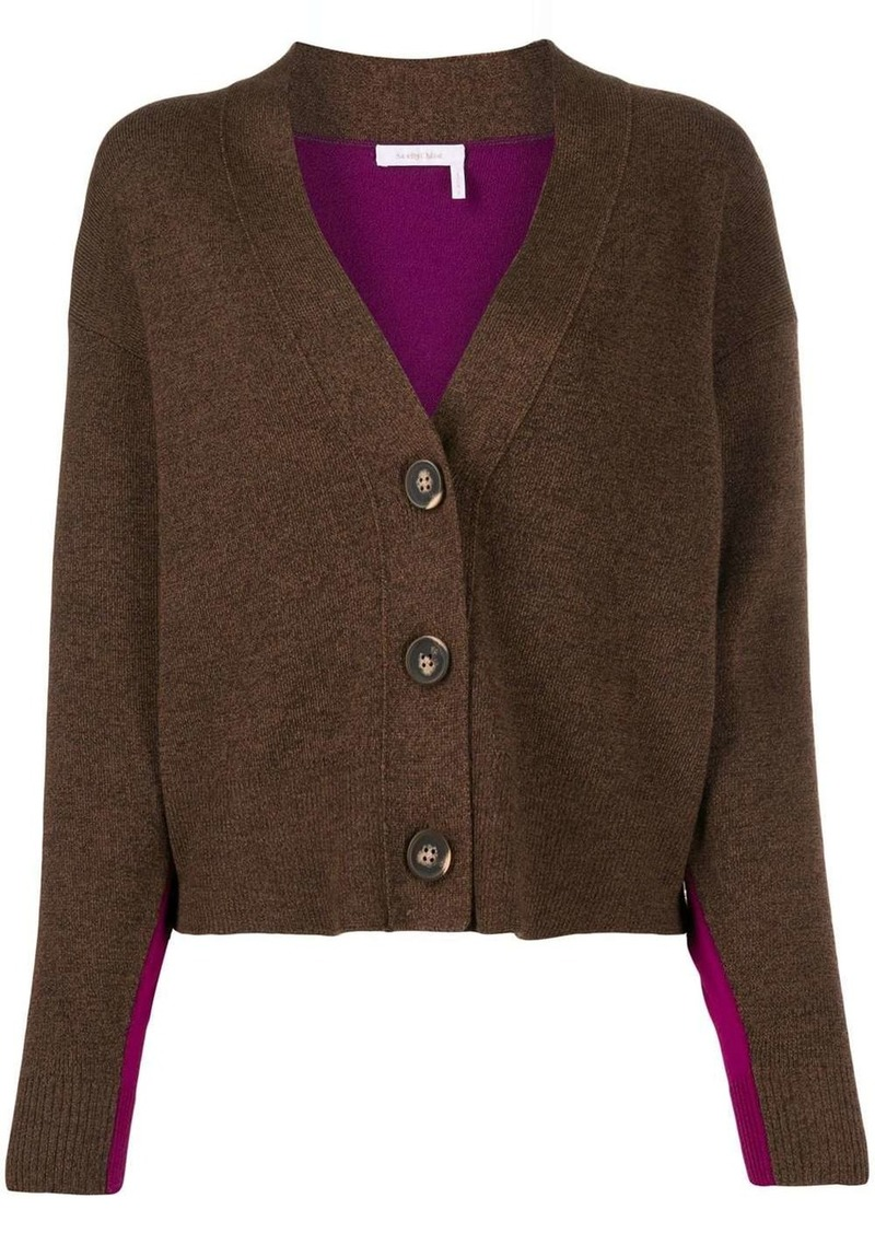 See by Chloé two tone button cardigan