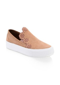 Vera Floral Suede Sneakers