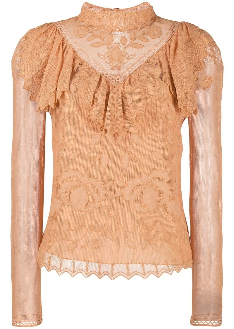 See by Chloé Victorian lace blouse