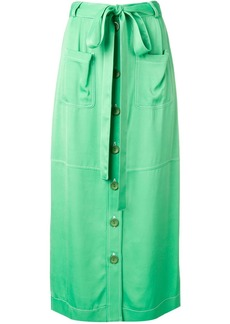 See by Chloé waist-tied midi skirt