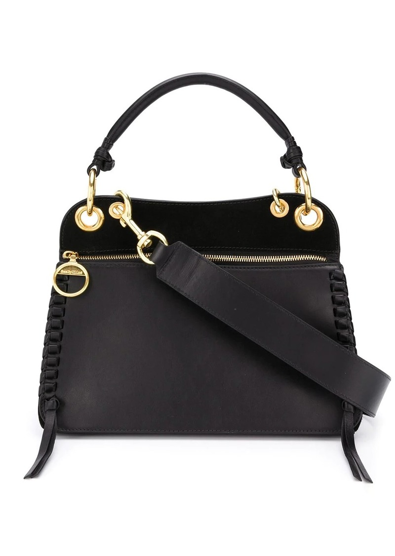 See by Chloé whipstitch panelled tote bag