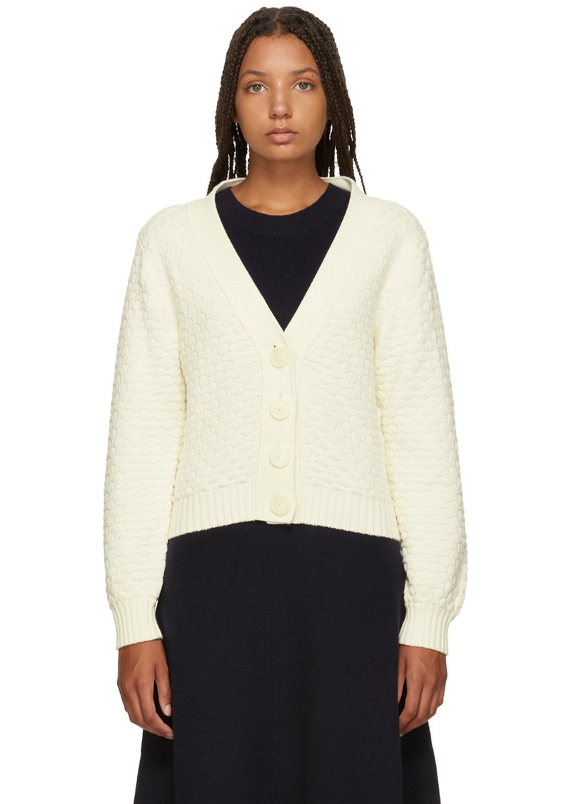 See by Chloé White Cotton Cardigan