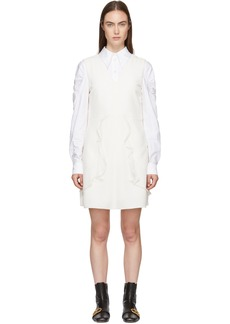 See by Chloé White Crepe Ruffle Dress