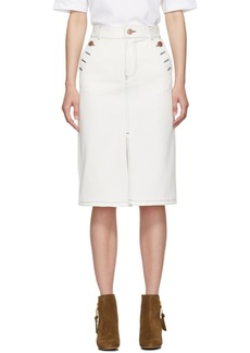 See by Chloé White Denim Parade Skirt
