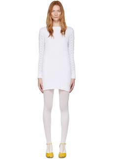 See by Chloé White Lace Sweater Dress