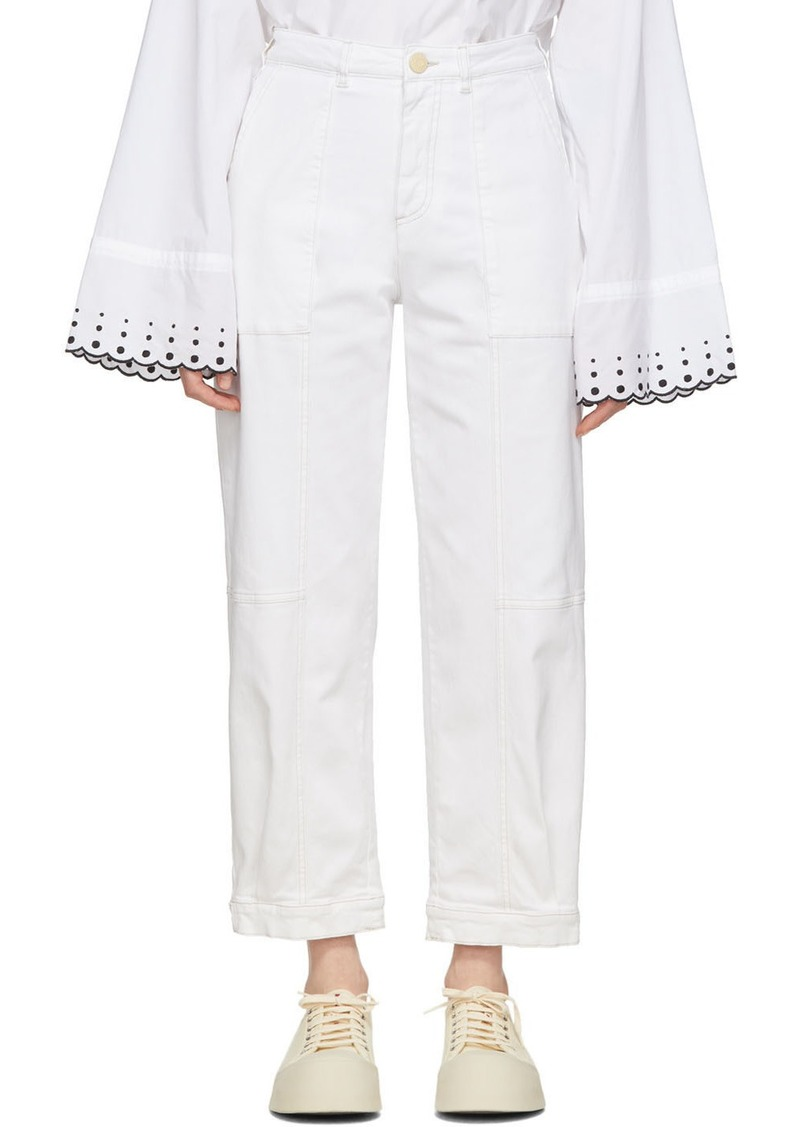 See by Chloé White Panelled Jeans