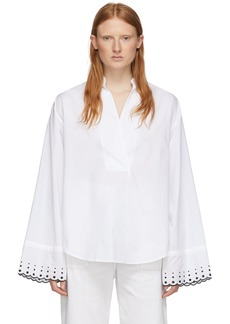 See by Chloé White Poplin Embroidered Shirt