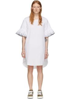 See by Chloé White Poplin Frill Dress