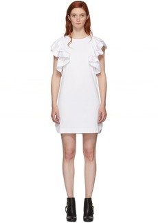 See by Chloé White Ruffled Dress