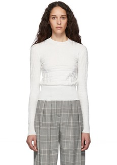 See by Chloé White SBC Crewneck Sweater