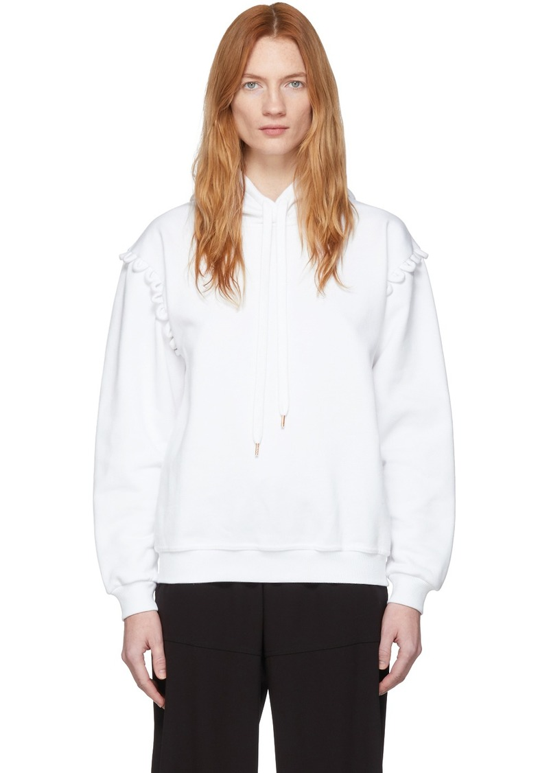 See by Chloé White Scallop Shoulder Detail Hoodie