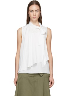 See by Chloé White Silk Bow Blouse