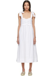 See by Chloé White Tie Shoulder Dress