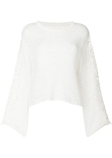 See by Chloé wide sleeve crochet sweater