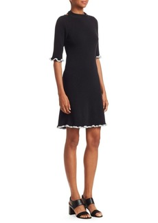 See by Chloé Wool Back Tie Dress
