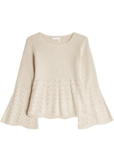 See by Chloé Wool Pullover with Cut-Out Pattern