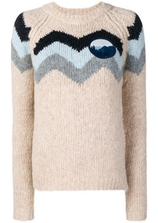 See by Chloé zigzag pattern sweater