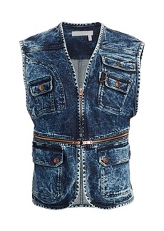See by Chloé Zip Denim Vest