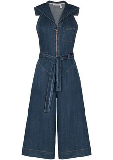 See by Chloé cropped denim jumpsuit