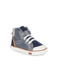 See Kai Run Baby's, Toddler's & Boy's Dane Chambray Hi-Top Sneakers
