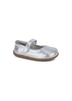 See Kai Run Girl's Jane II Metallic Leather Mary Jane Flats