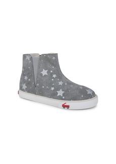 See Kai Run Little Girl's & Girl's Keegan Printed Suede Chelsea Boots