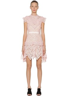 Self Portrait Abstract Triangle Lace Mini Dress