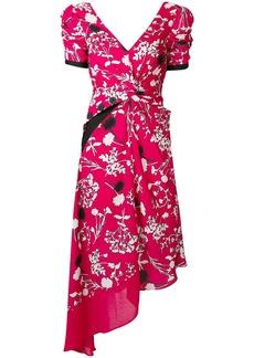 Self Portrait asymmetric floral midi dress