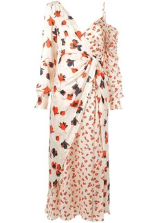 Self Portrait asymmetric floral printed dress