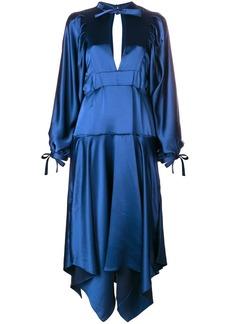 Self Portrait asymmetric midi dress