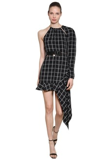 Self Portrait Asymmetrical Check Dress