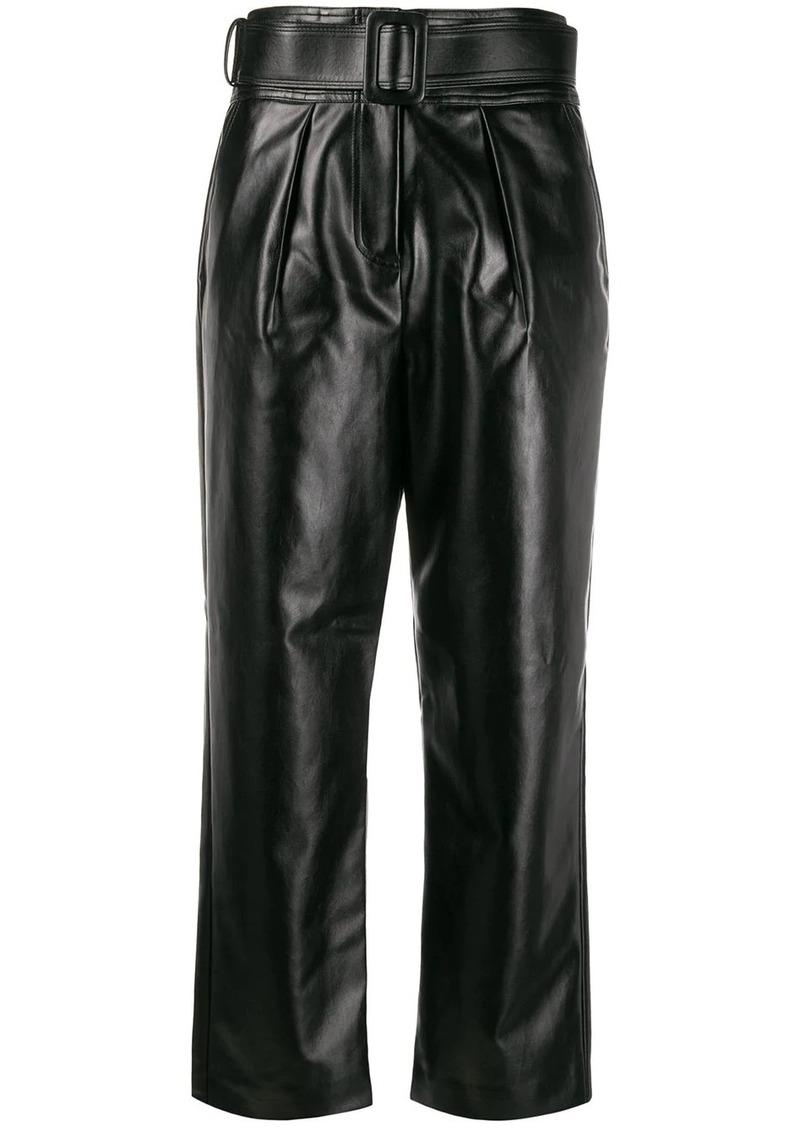 Self Portrait belted waist trousers