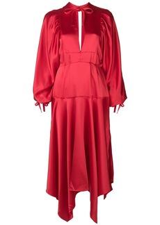 Self Portrait bishop sleeve midi dress