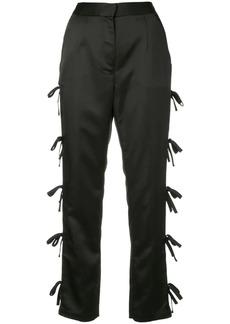 Self Portrait bow tie straight trousers