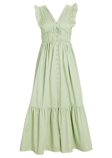 Self Portrait Cotton Poplin Midi Dress