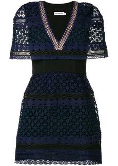 Self Portrait crochet-lace mini dress
