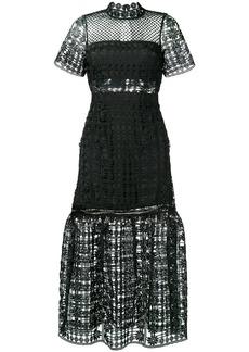 Self Portrait lace midi dress