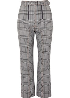 Self Portrait Cropped Checked Tweed Straight-leg Pants