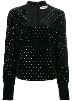 Self Portrait crystal studded blouse