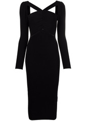 Self Portrait cut-out detail midi fitted dress