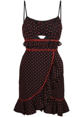 Self portrait cutout polka dots dress abvaa295cef a