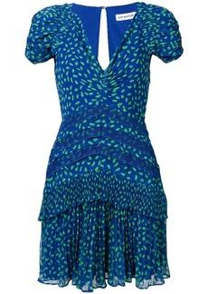 Self Portrait dot chiffon printed dress